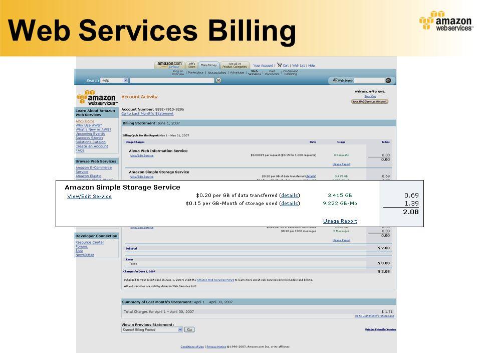 Web Services Billing