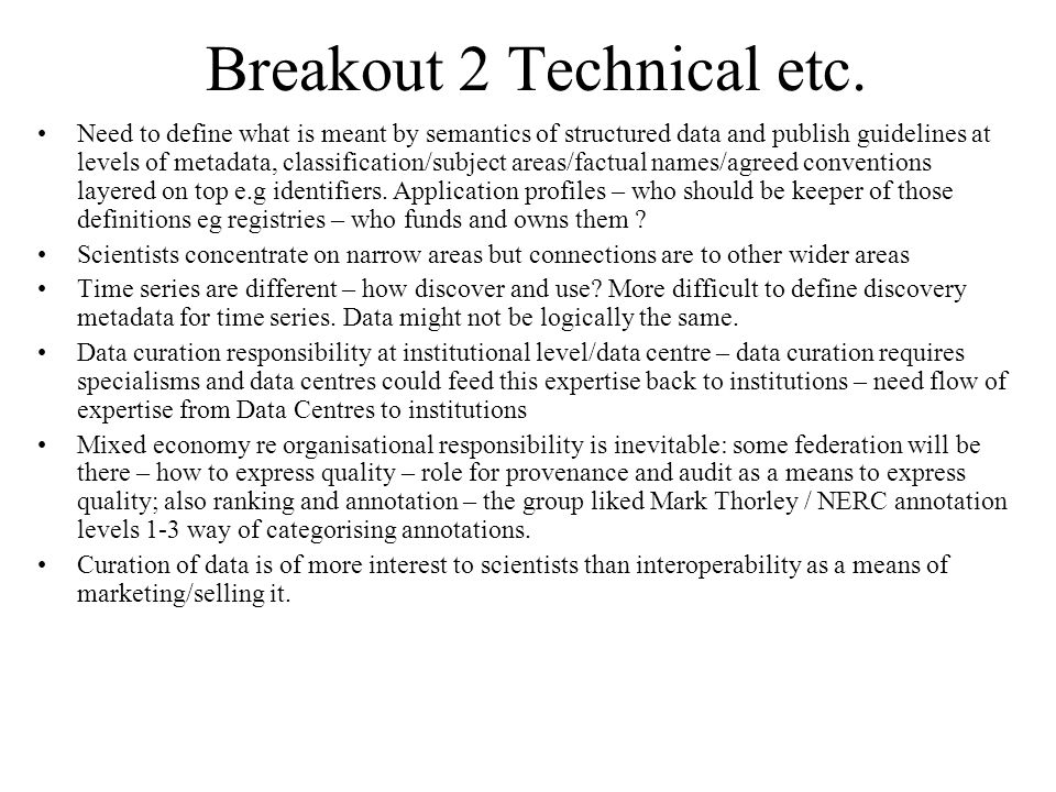 Breakout 2 Technical etc.