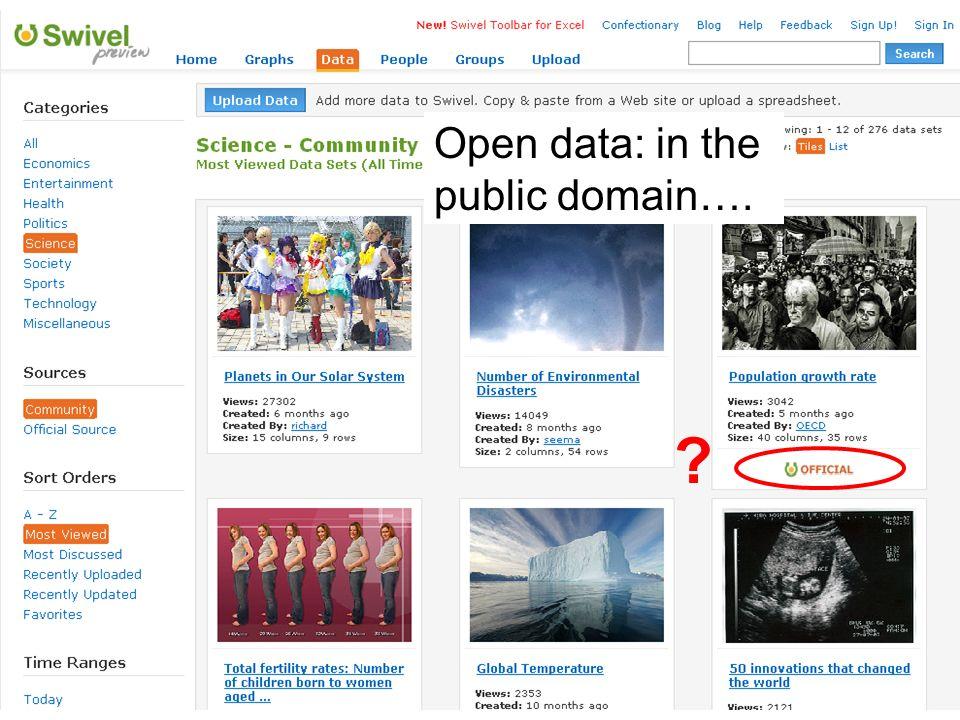Data usability: presentation and visualisation