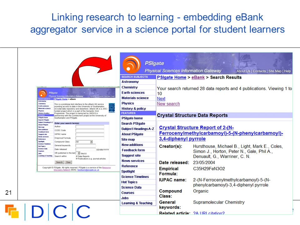 Digital | Curation | Centre 21 Linking research to learning - embedding eBank aggregator service in a science portal for student learners