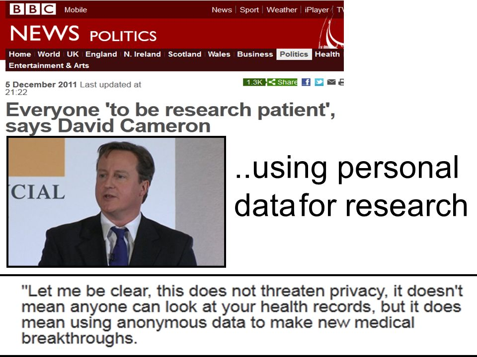 ..using personal data for research