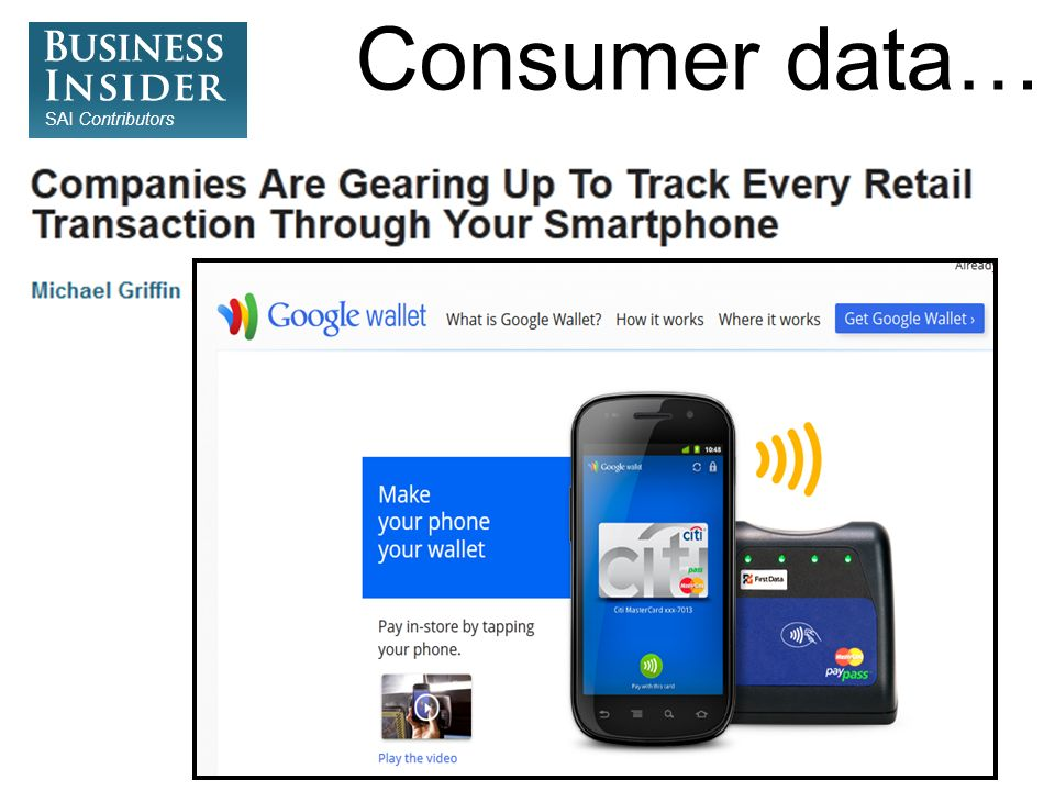Consumer data…