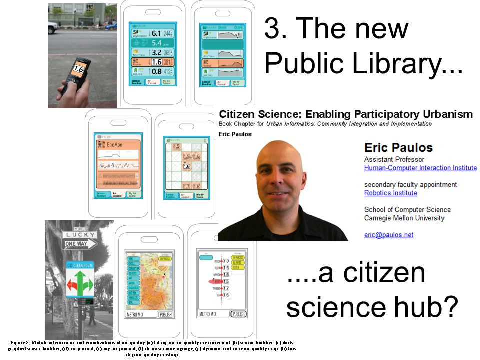 ....a citizen science hub 3. The new Public Library...