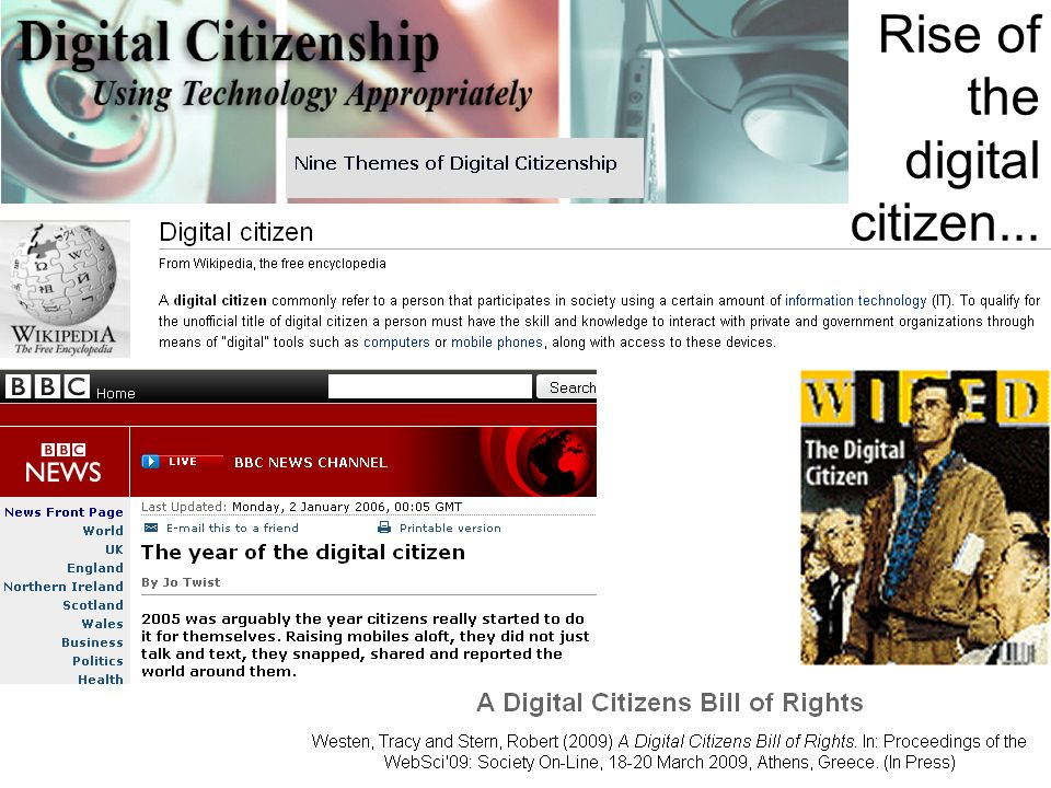 Rise of the digital citizen...