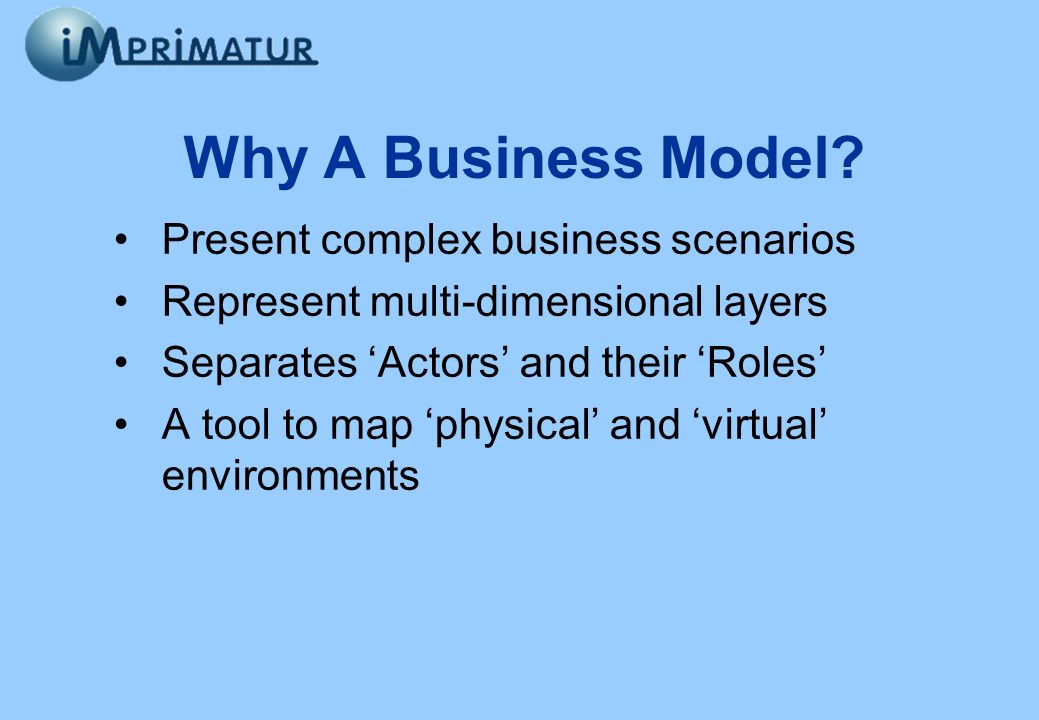 Present complex business scenarios Represent multi-dimensional layers Separates Actors and their Roles A tool to map physical and virtual environments