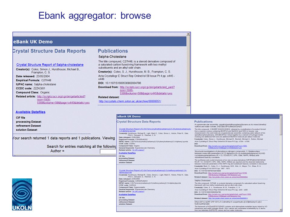 Ebank aggregator: browse