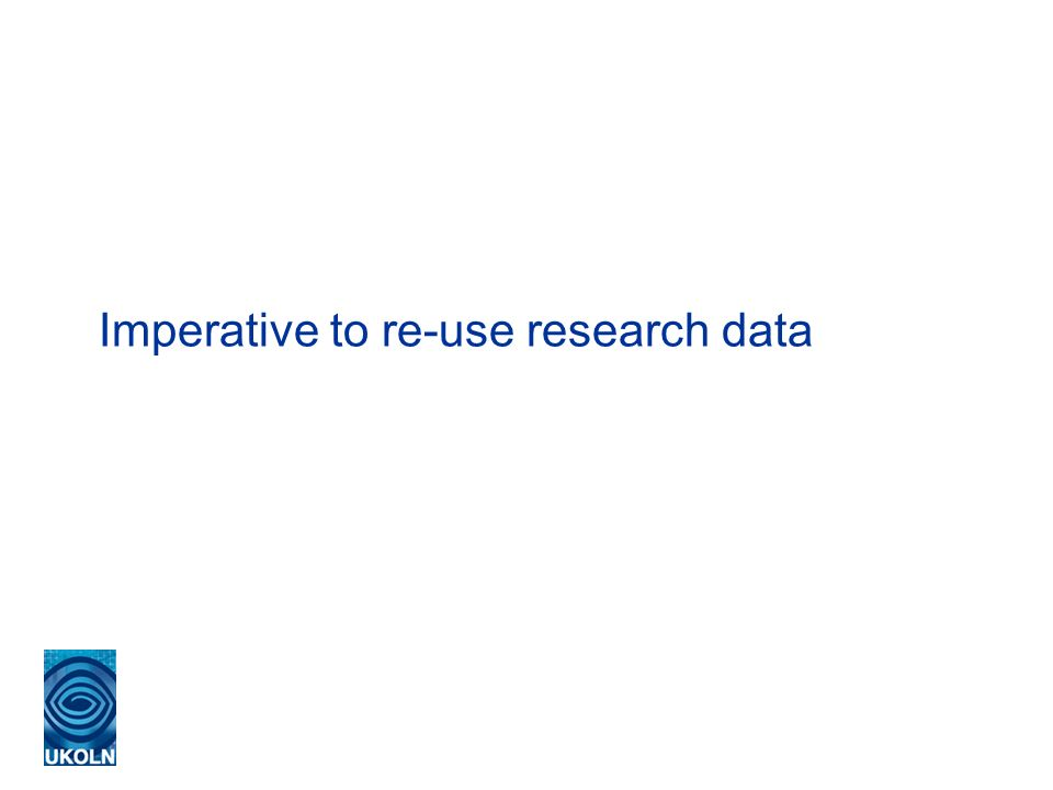 Imperative to re-use research data