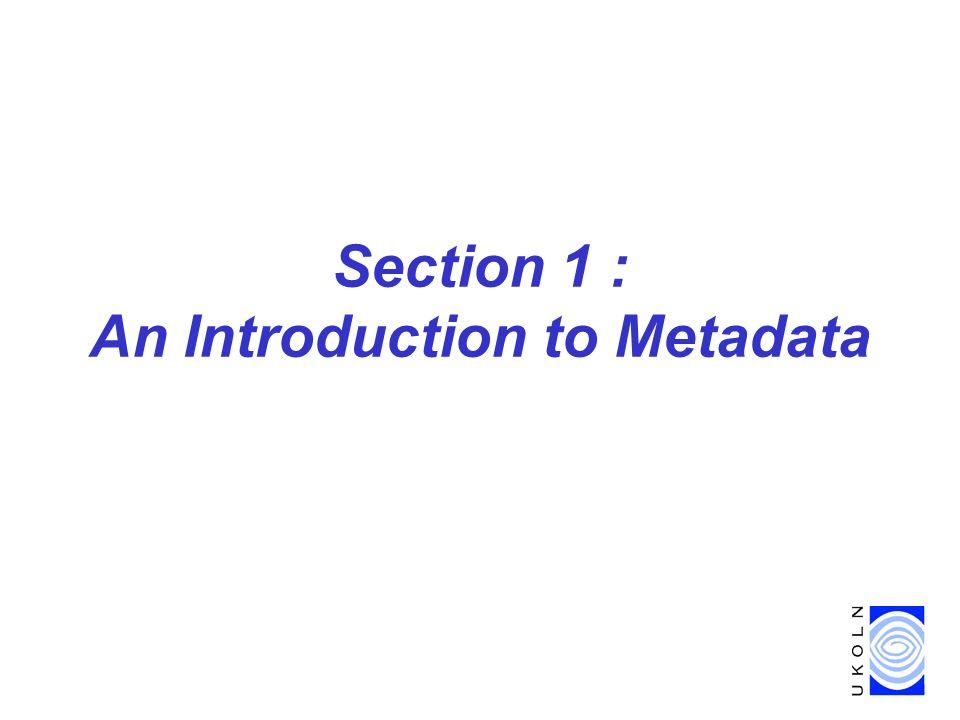 Metadata in Digital Libraries, DELOS meeting, Riga, Latvia, 16 April 2003 23 e.g.