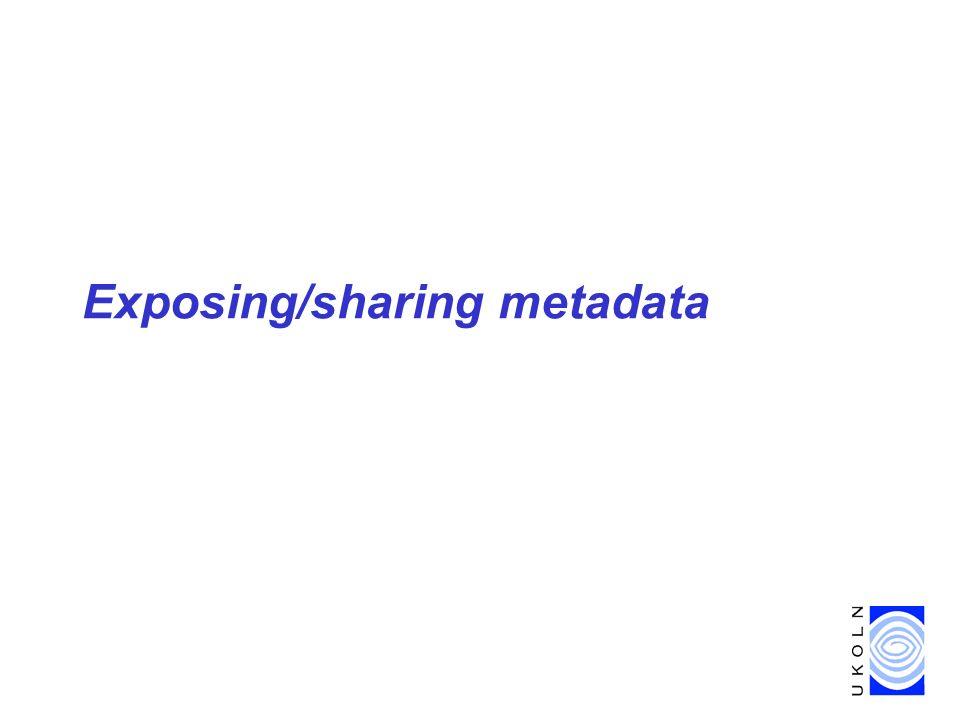 Exposing/sharing metadata