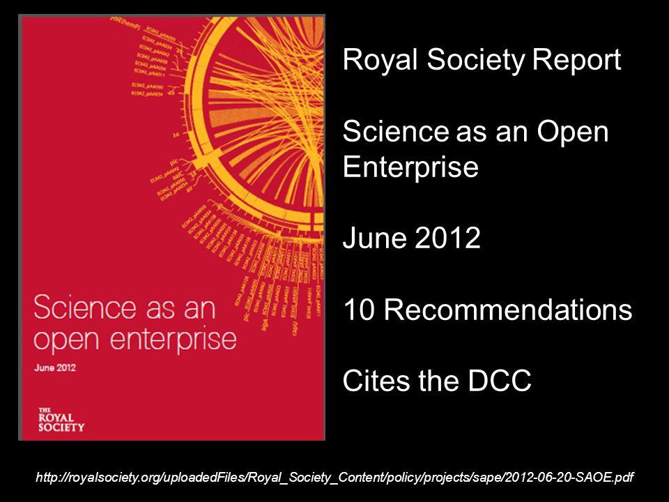 Report sound-bytes intelligently open data Scientists …..