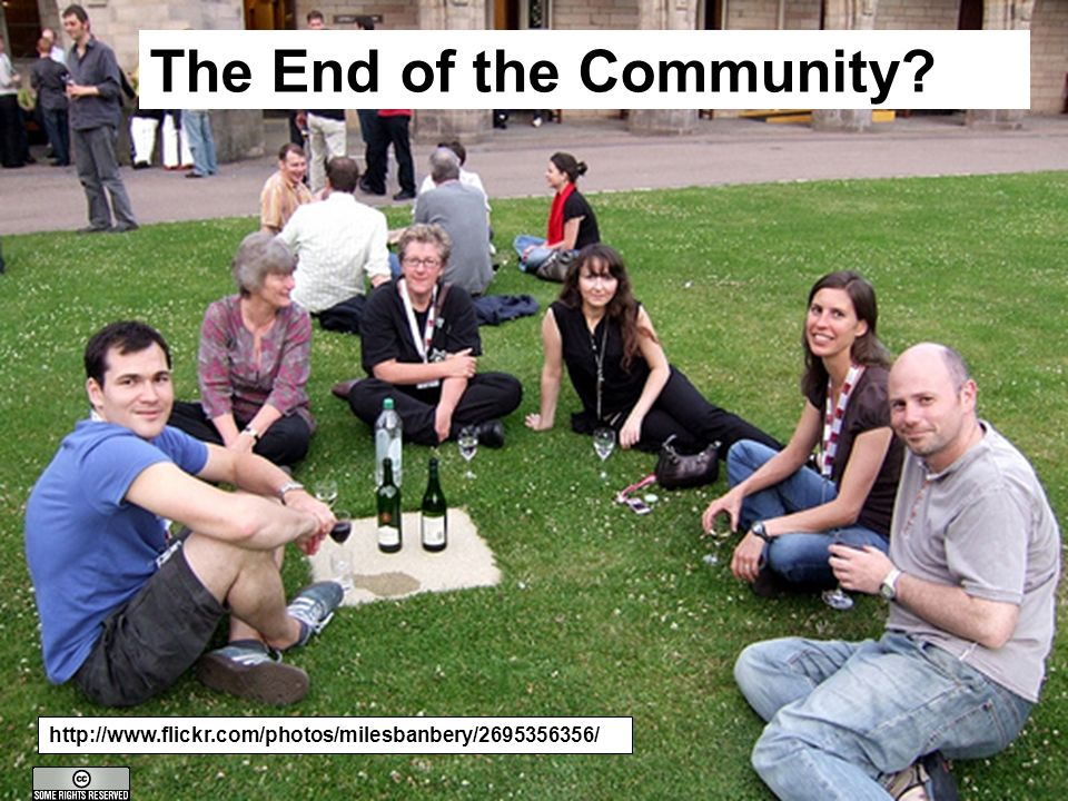 A centre of expertise in digital information managementwww.ukoln.ac.uk The End of the Community.