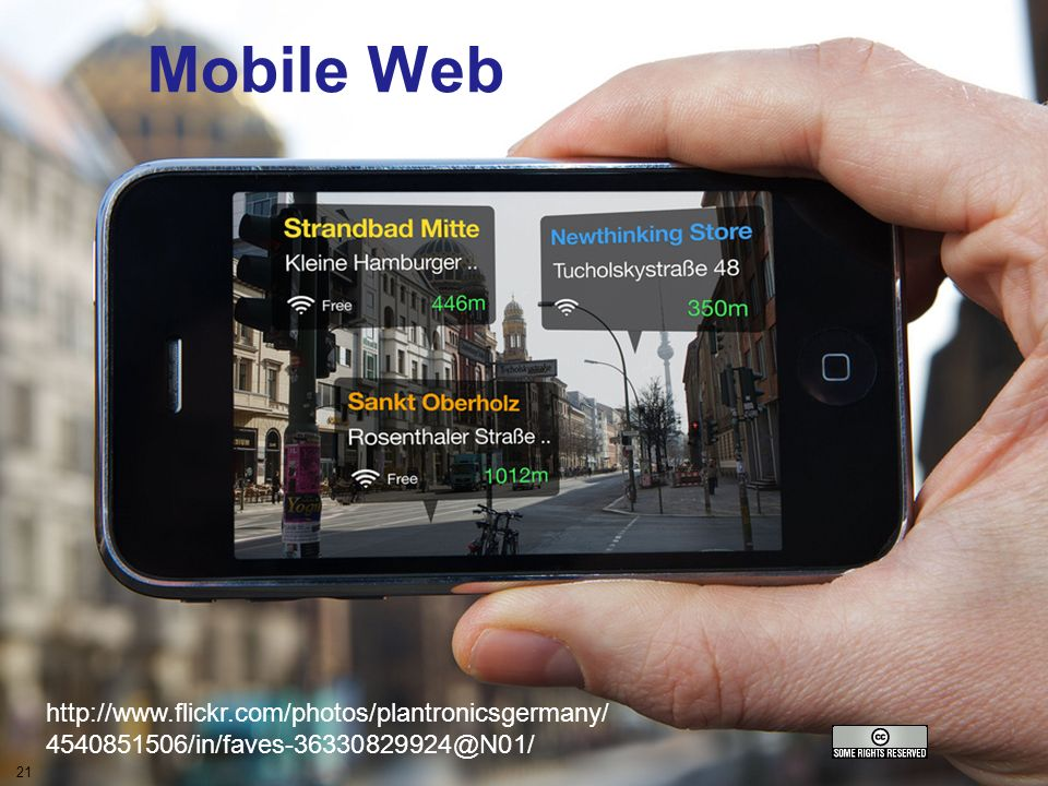 A centre of expertise in digital information managementwww.ukoln.ac.uk The mobile Webv Mobile Web 21 http://www.flickr.com/photos/plantronicsgermany/ 4540851506/in/faves-36330829924@N01/