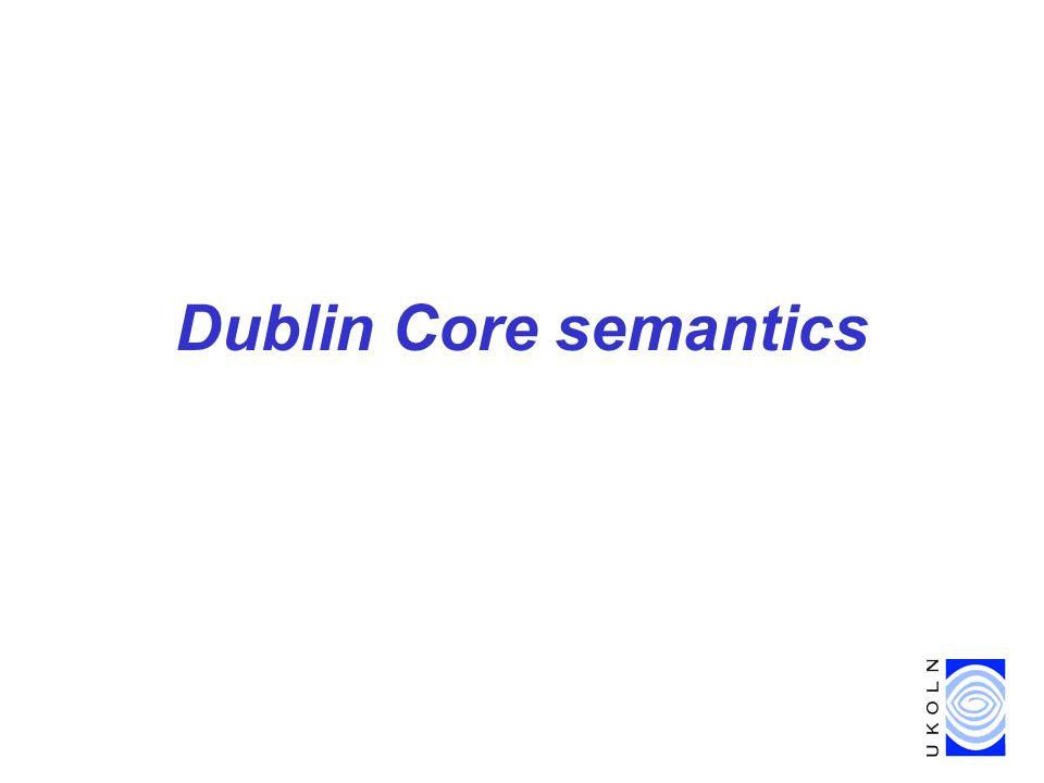 Dublin Core semantics