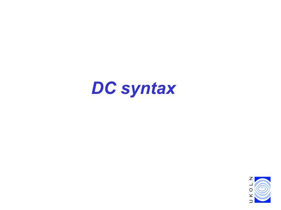 DC syntax
