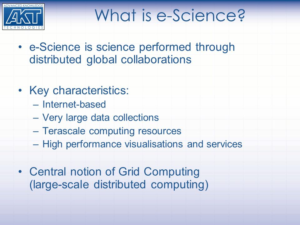 What is e-Science.