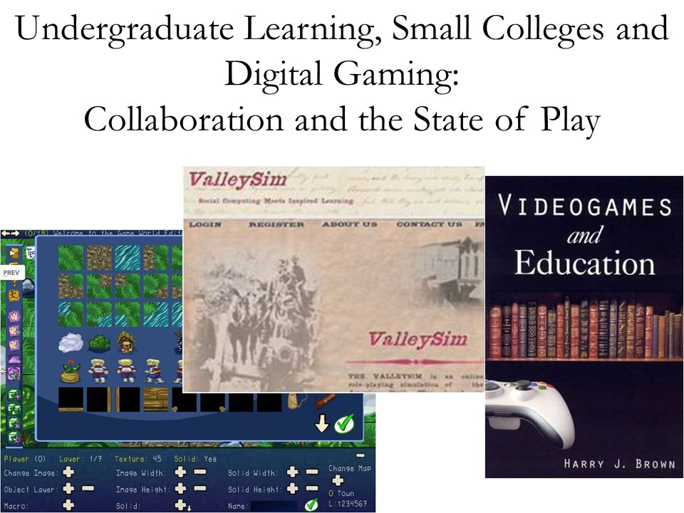Undergraduate Learning, Small Colleges and Digital Gaming: Collaboration and the State of Play