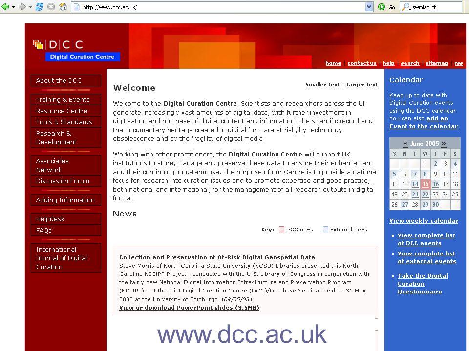 27 www.dcc.ac.uk