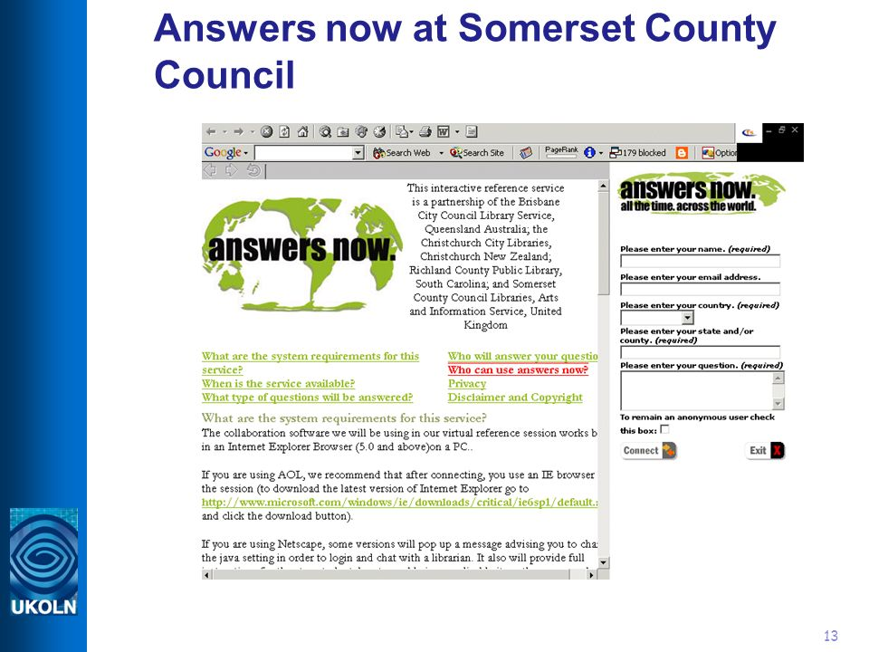 13 Answers now at Somerset County Council