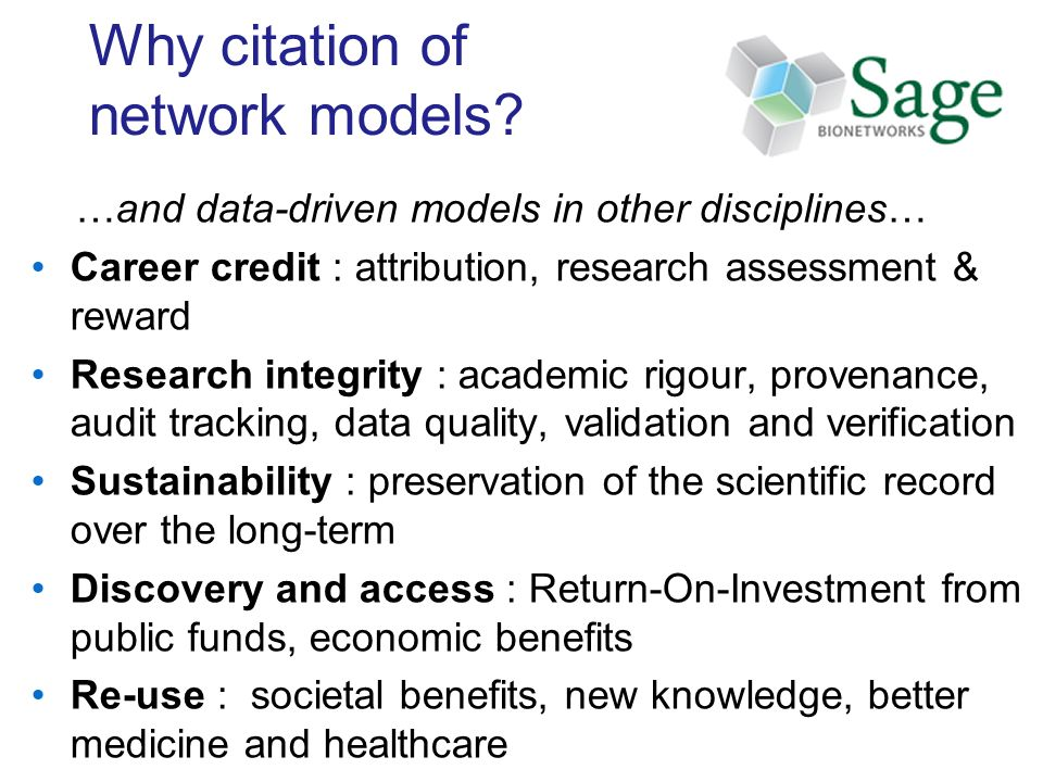 Why citation of network models.