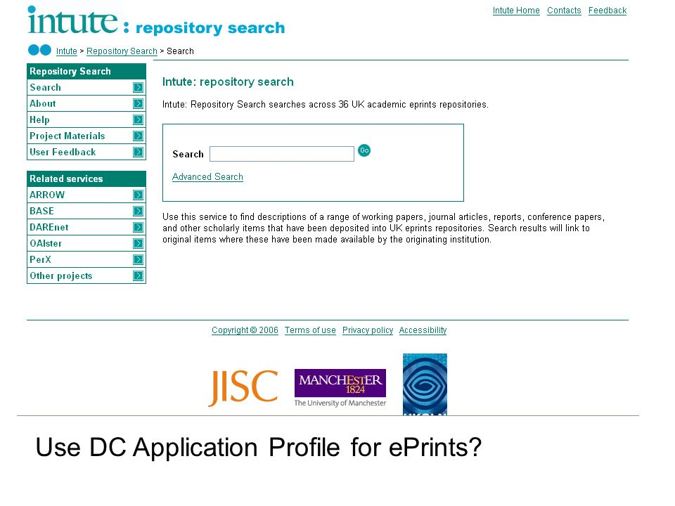 Use DC Application Profile for ePrints