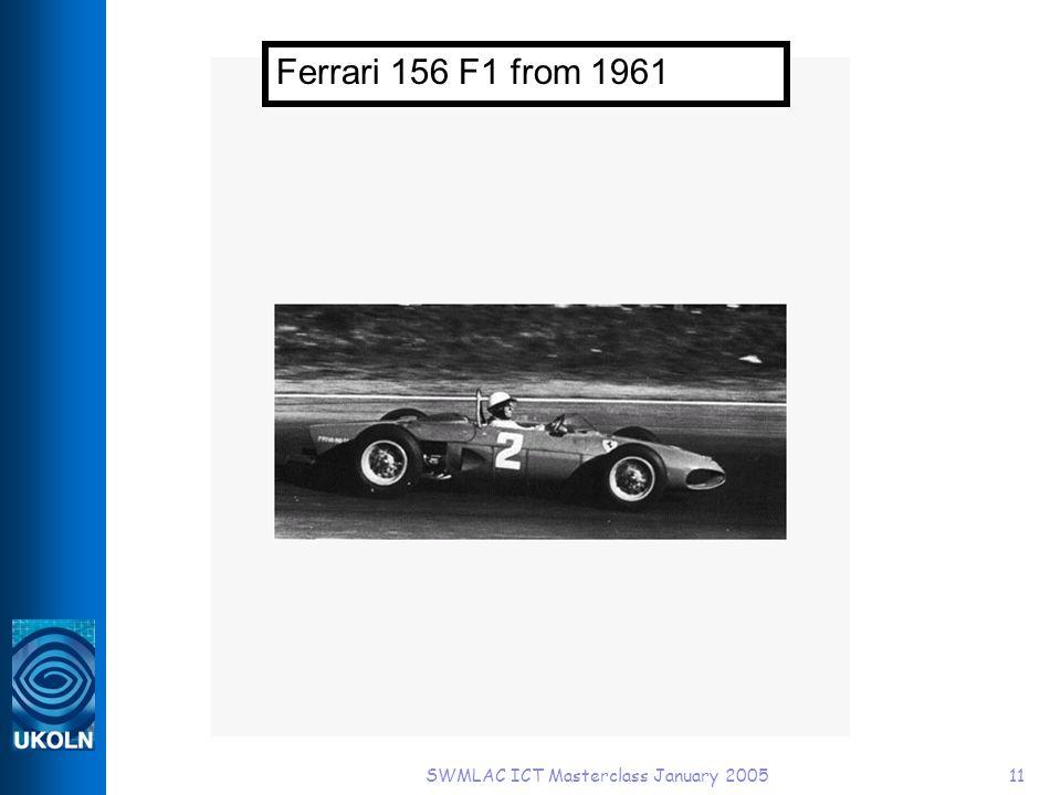 SWMLAC ICT Masterclass January 200511 Ferrari 156 F1 from 1961