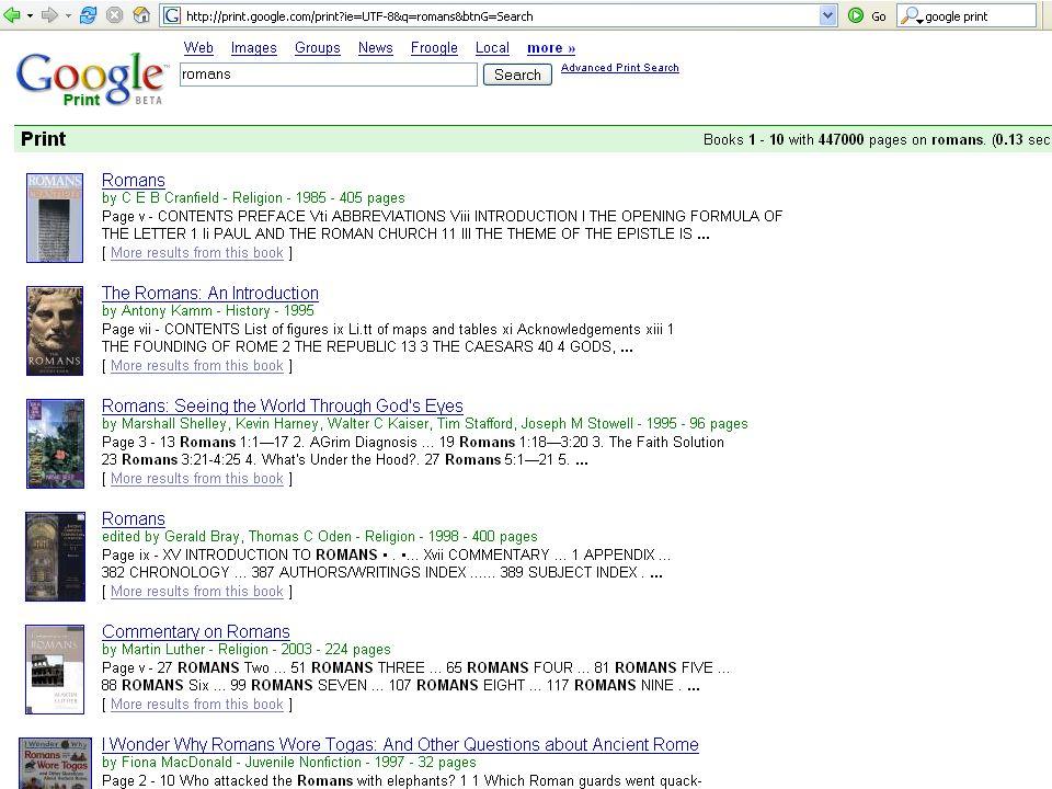 SWMLAC ICT Masterclass November 200524 GooglePrint + Open Content Alliance
