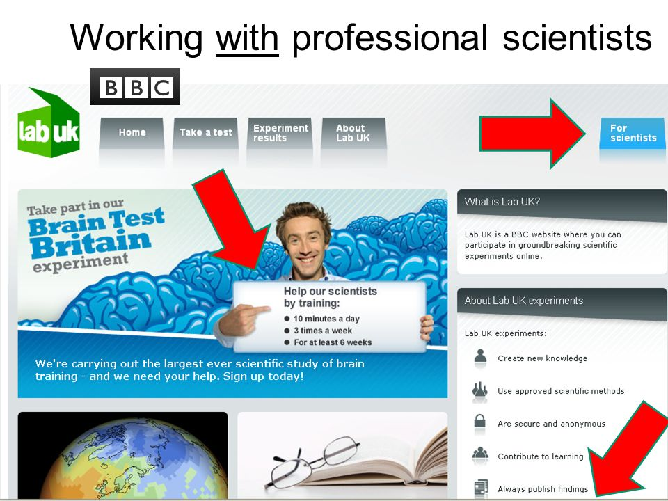 Working with professional scientists