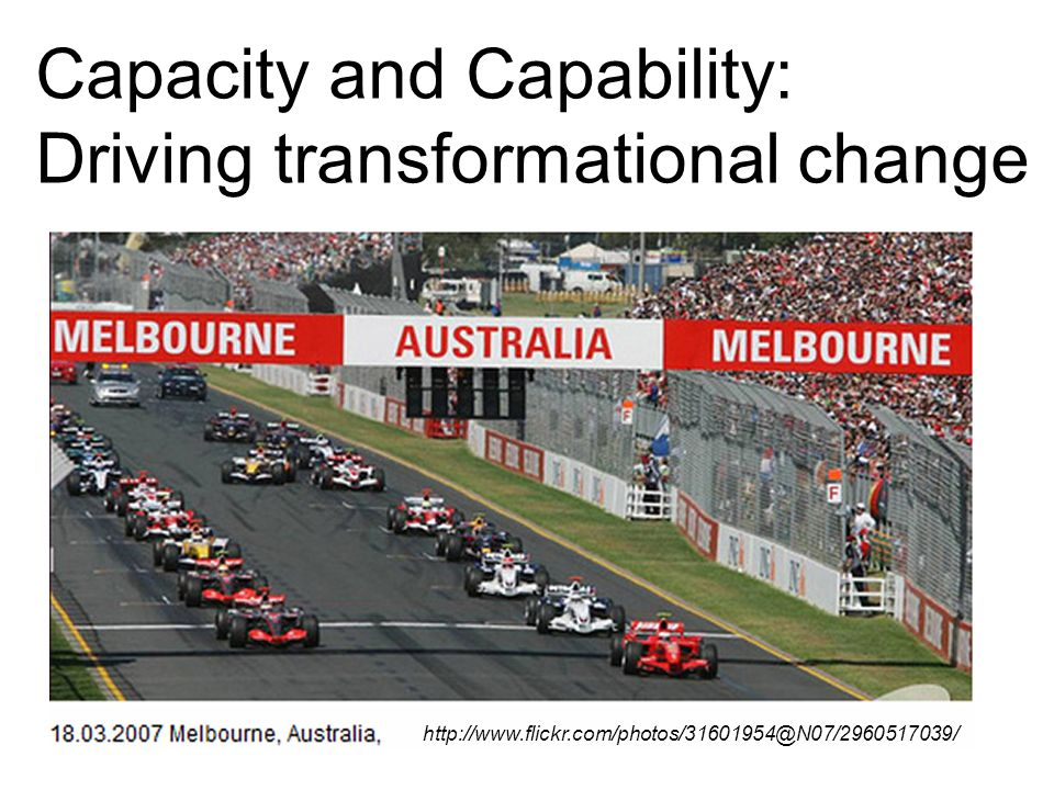 Capacity and Capability: Driving transformational change