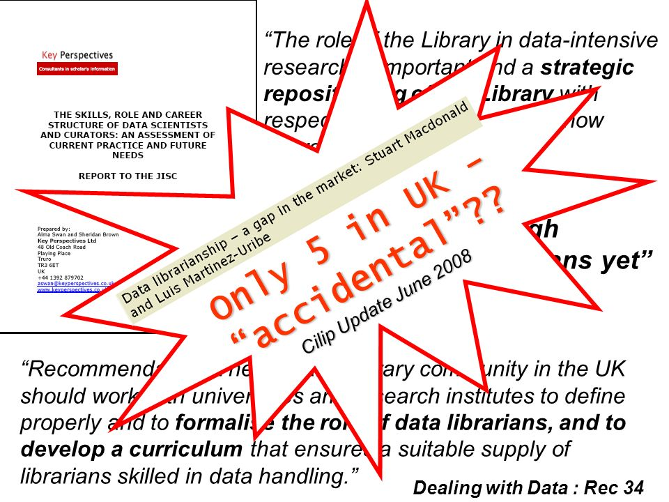 The role of the Library in data-intensive research is important and a strategic repositioning of the Library with respect to research support is now a