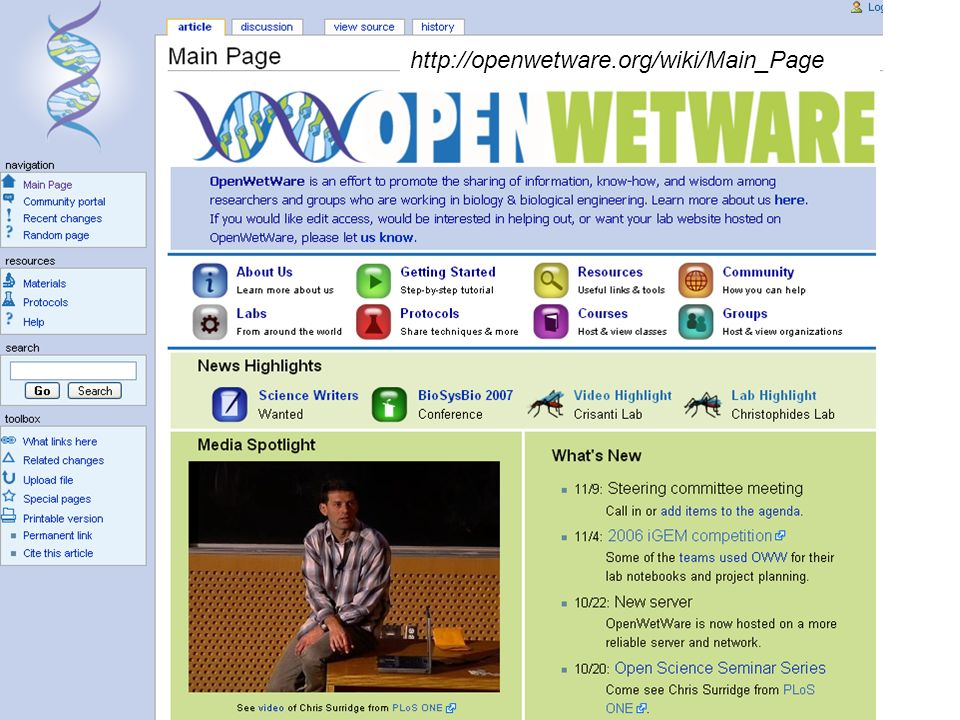 http://openwetware.org/wiki/Main_Page