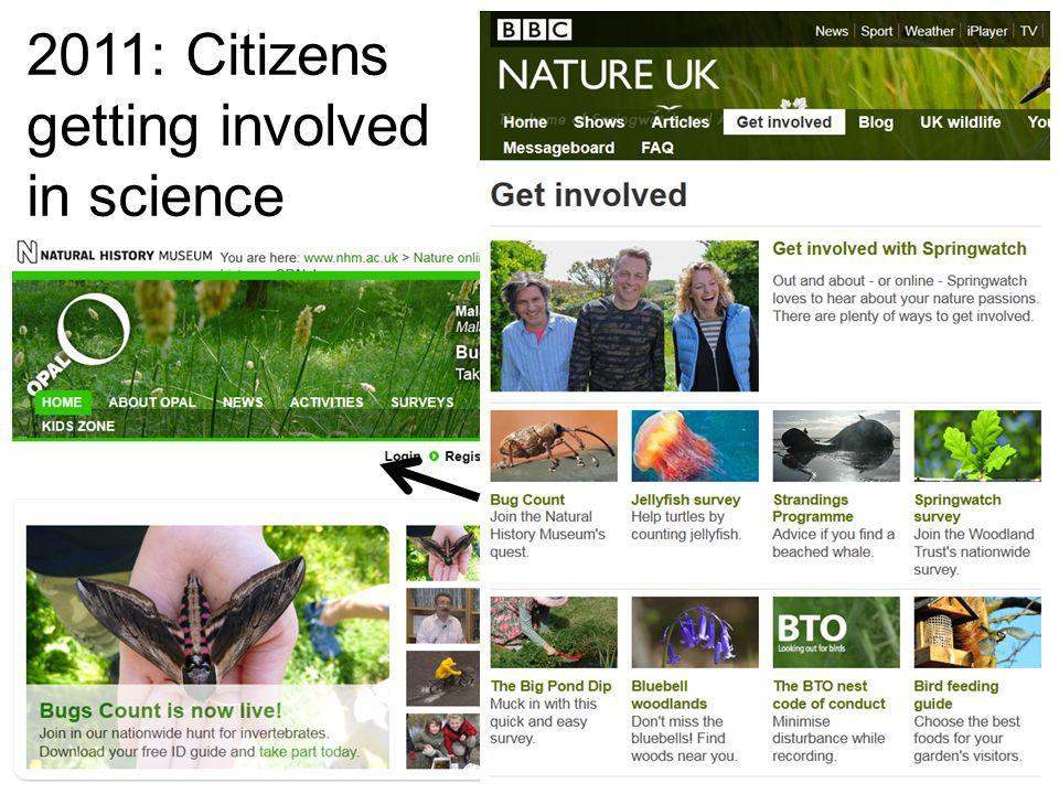 16 2011: Citizens getting involved in science