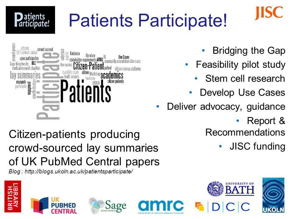 Patients Participate.