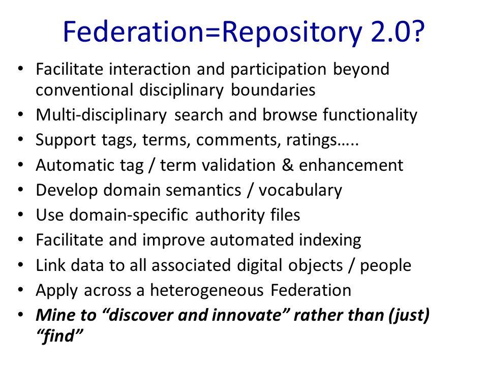 Federation=Repository 2.0.