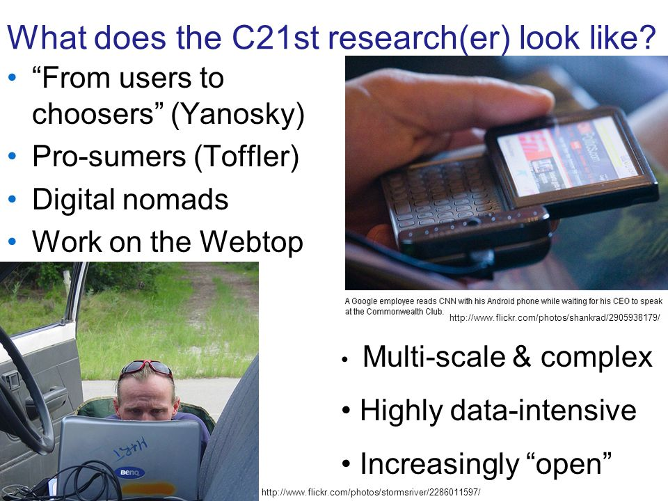 What does the C21st research(er) look like.