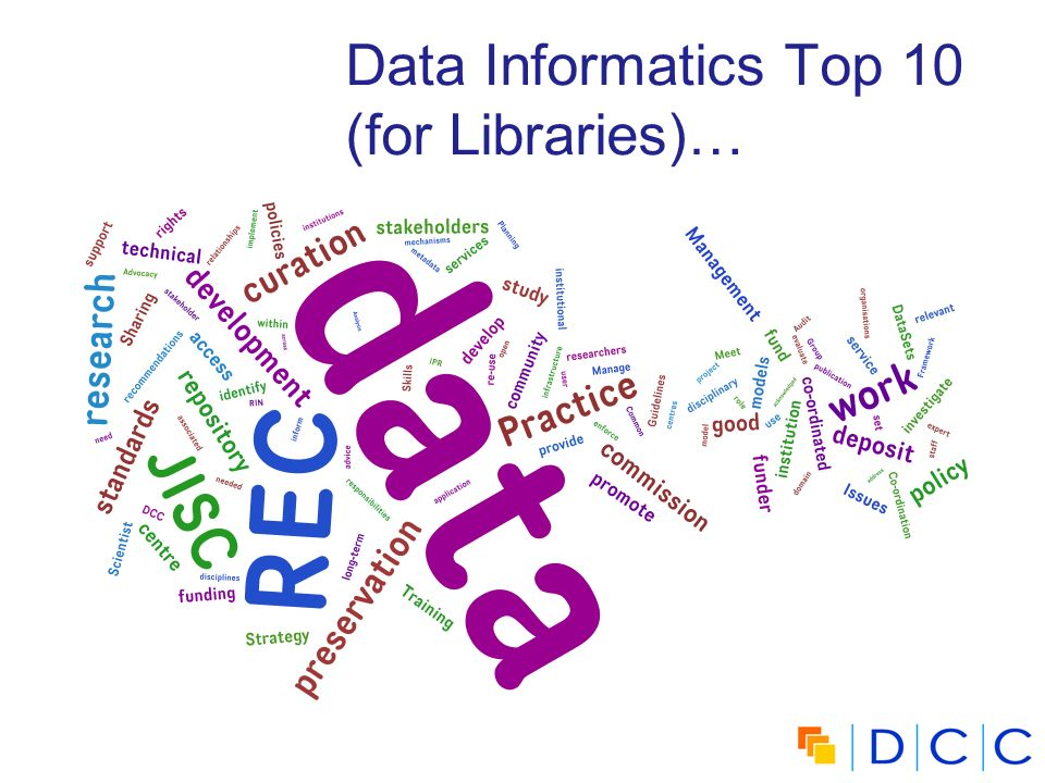 Data Informatics Top 10 (for Libraries)…