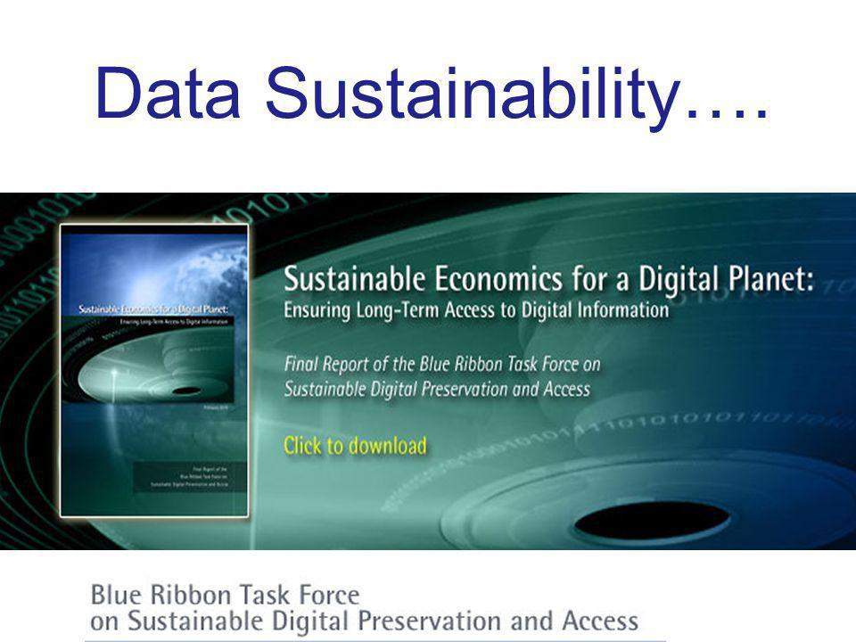 Data Sustainability….
