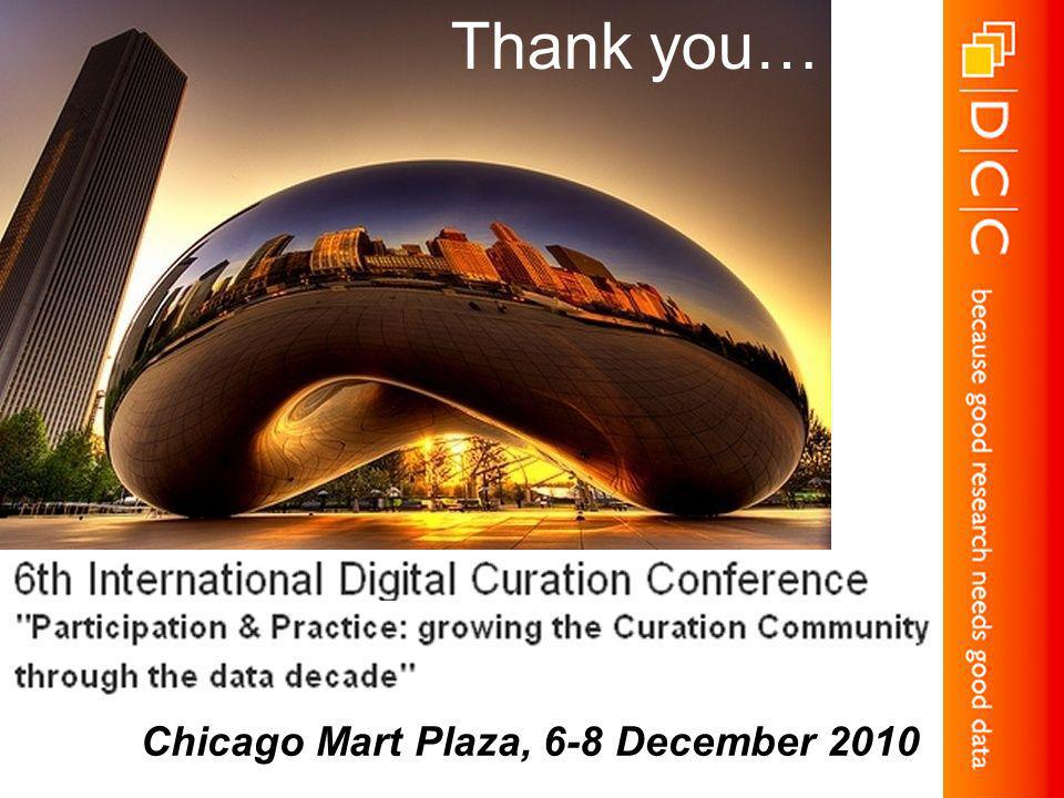 Chicago Mart Plaza, 6-8 December 2010 Thank you…