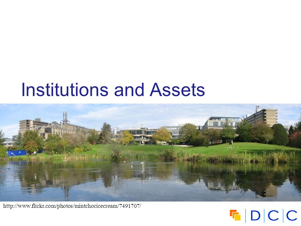 Institutions and Assets http://www.flickr.com/photos/mintchocicecream/7491707/