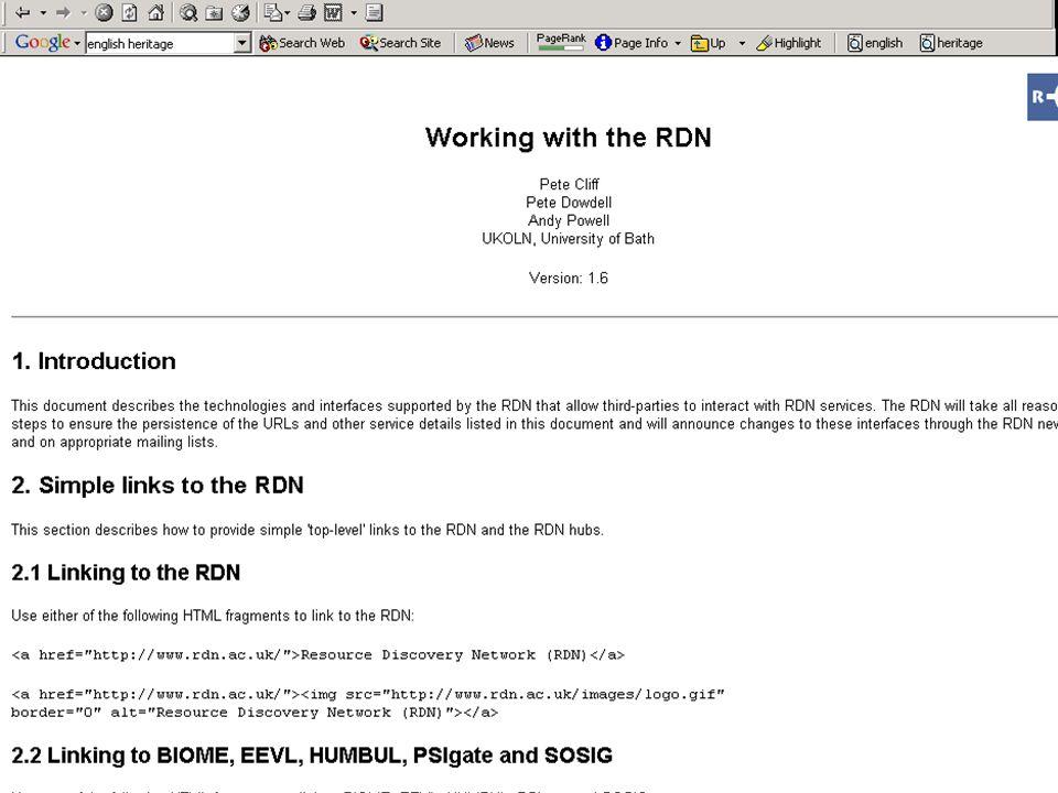 A centre of expertise in digital information management www.ukoln.ac.uk
