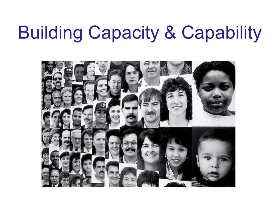 Building Capacity & Capability