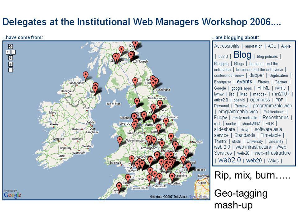 Rip, mix, burn….. Geo-tagging mash-up