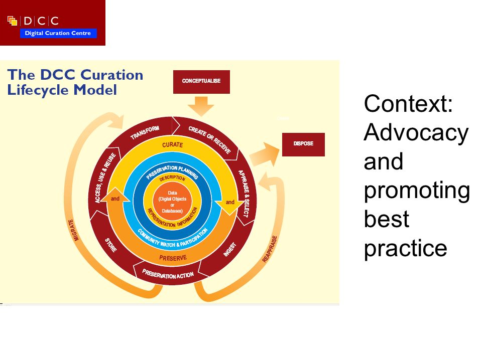 Context: Advocacy and promoting best practice