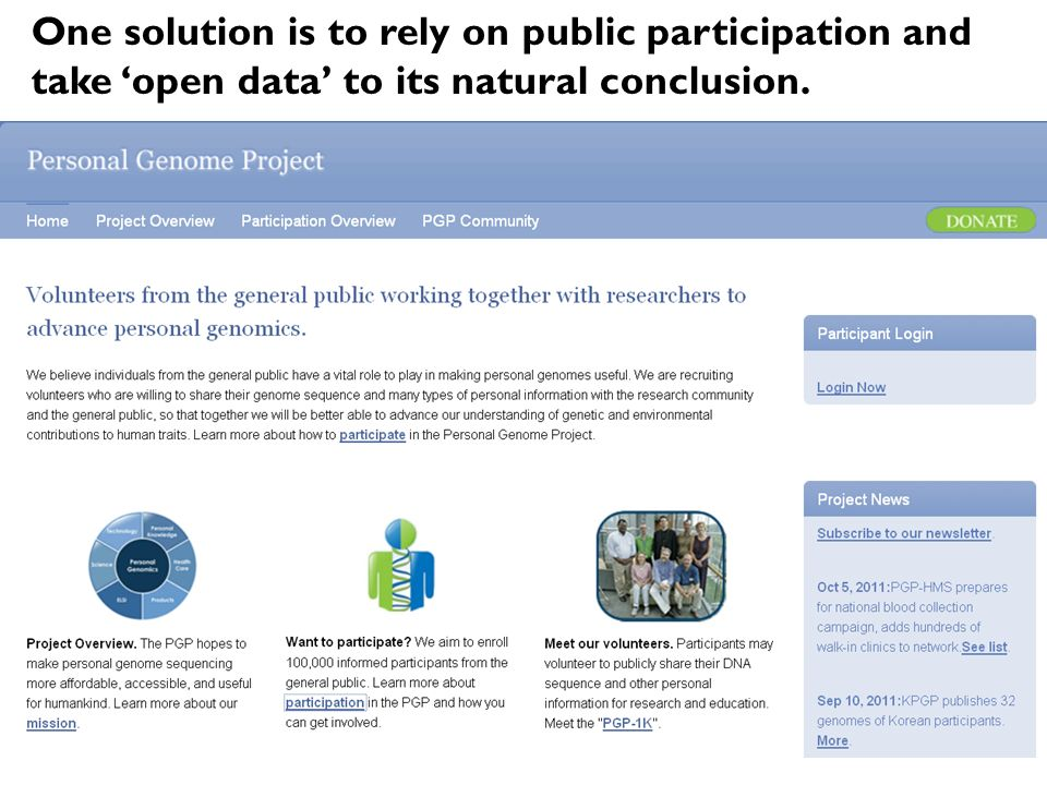 One solution is to rely on public participation and take open data to its natural conclusion.