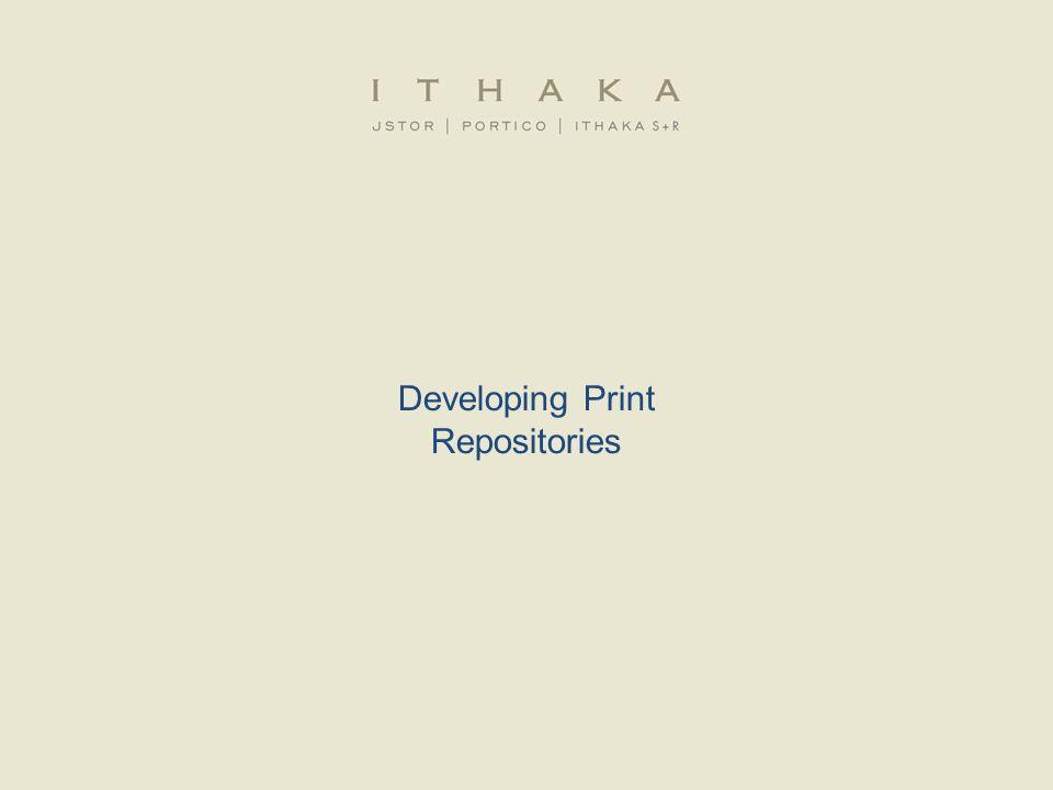 Developing Print Repositories