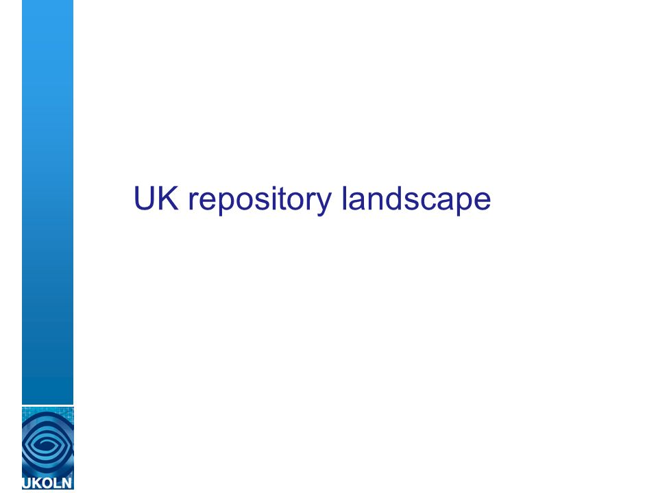 UK repository landscape