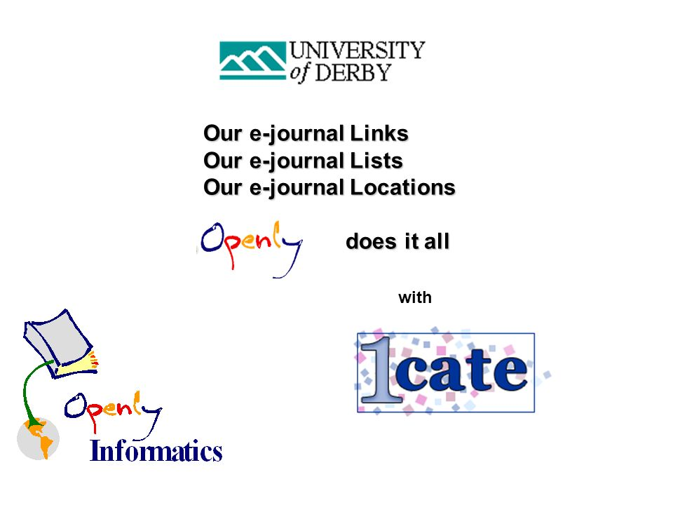 with Our e-journal Links Our e-journal Lists Our e-journal Locations does it all does it all
