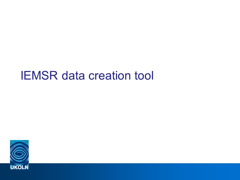 IEMSR data creation tool