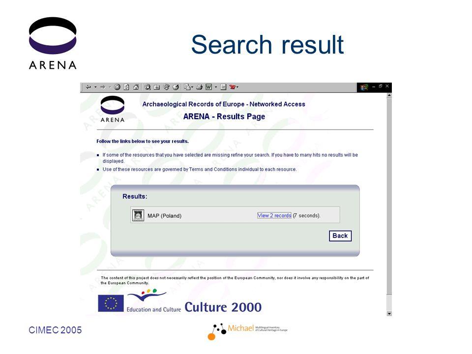 CIMEC 2005 Search result