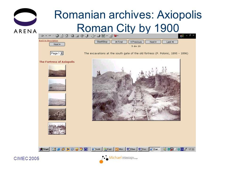 CIMEC 2005 Romanian archives: Axiopolis Roman City by 1900