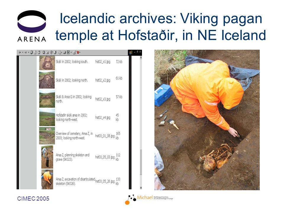 CIMEC 2005 Icelandic archives: Viking pagan temple at Hofstaðir, in NE Iceland